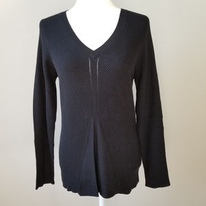 DNKY Jeans V-Neck Black Sweater - XL - NWT